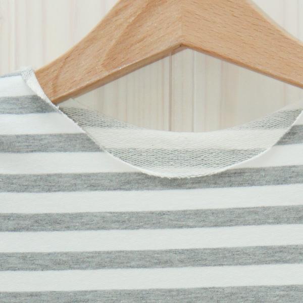 Longsleeve grau/weiß