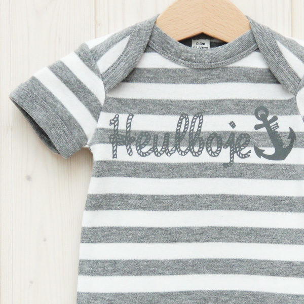 Body Heulboje grau/weiß gestreift