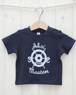 T-Shirt Steuerrad marineblau