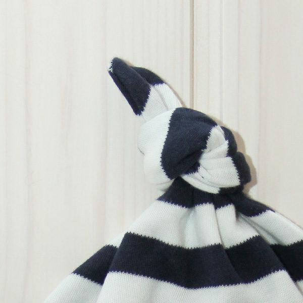 Knotenmütze Anker blau/weiß