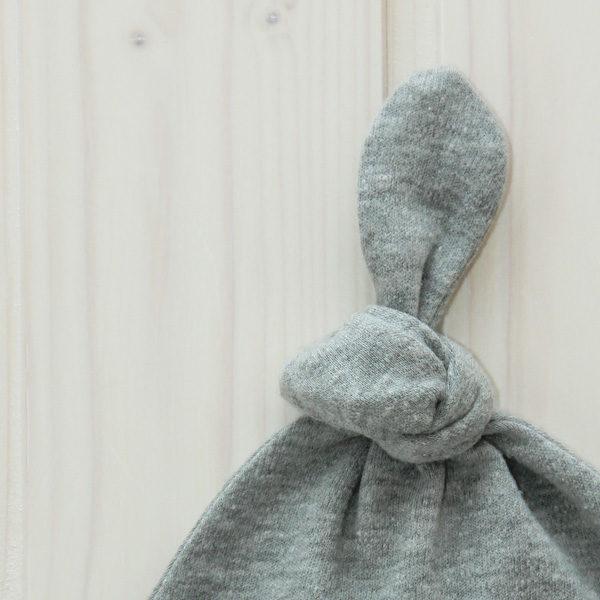 Knotenmütze Anker grau