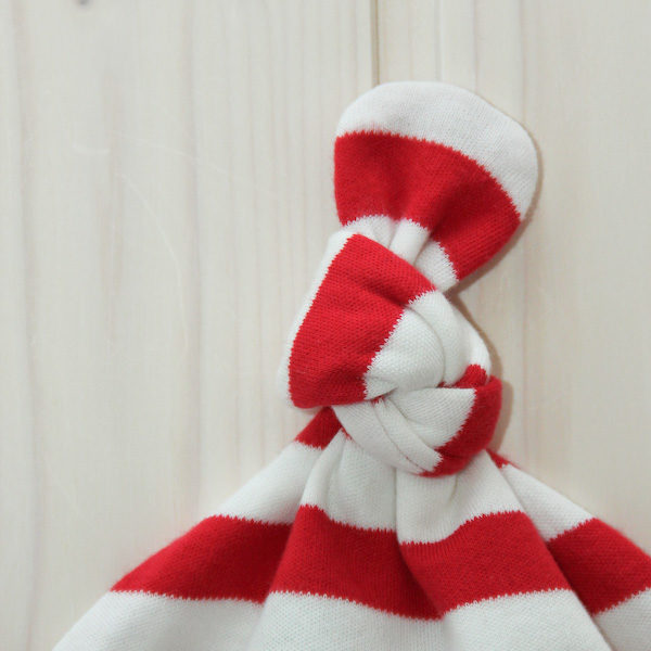 Knotenmütze Anker rot/weiß