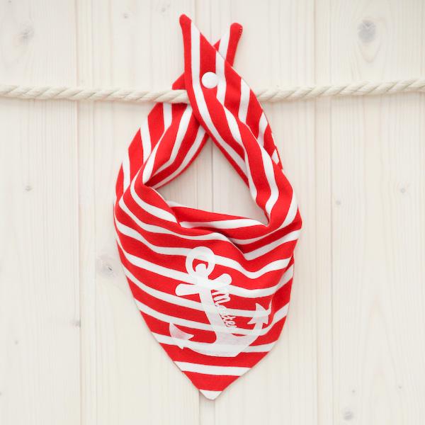 Halstuch Anker rot/weiß