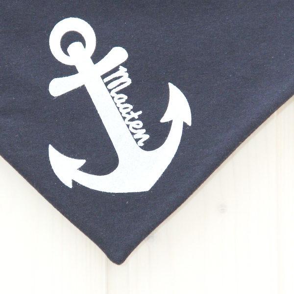 Halstuch Anker marineblau