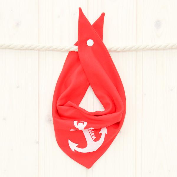 Halstuch Anker rot