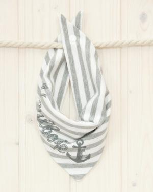 Halstuch Heulboje grau/weiß