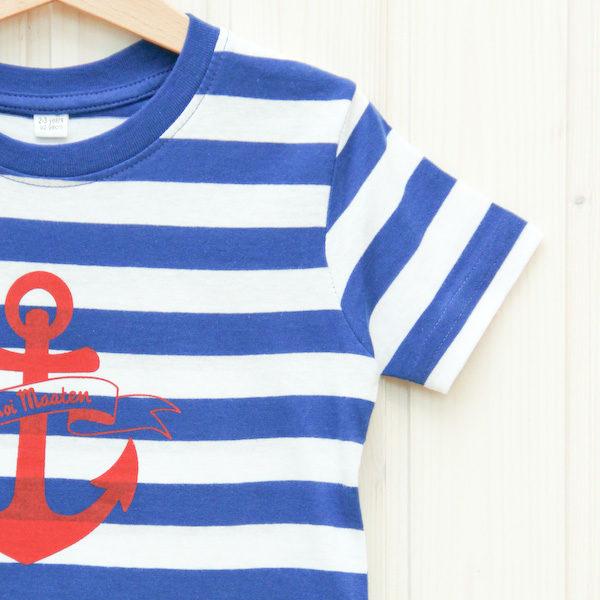 T-Shirt Anker 2/3 Jahre blau/weiß