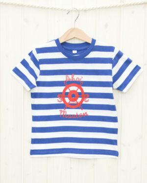 T-Shirt Steuerrad 2/3 Jahre blau/weiß