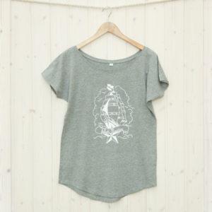 Frauen T-Shirt Segelschiff